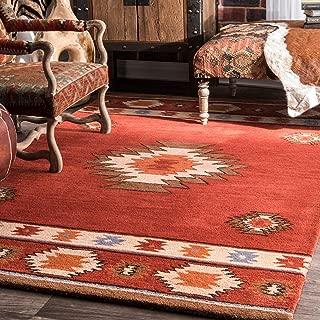 nuLOOM Shyla Abstract Wool Rug, 3' x 5', Wine