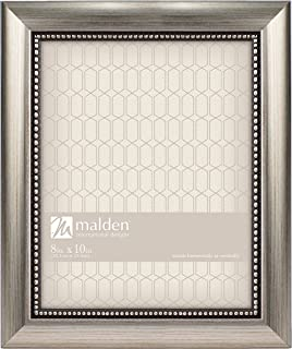 Malden International Designs Classic Mouldings Champagne Beaded Picture Frame, 8