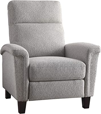Lexicon Onofre Push Back Reclining Chair, Light Gray