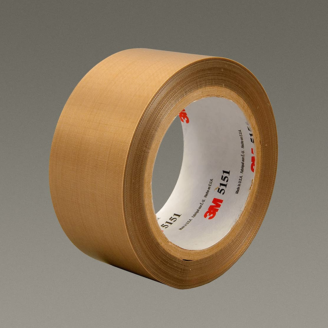 3M 45630 Glass Cloth Tape, 3/4 in x 36 yd 3.5 mil, 5151, Glass Cloth Impregnated W/PTFE, Light Brown