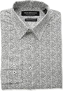 Nick Graham Men's Vine Print Stretch Dress Shirt