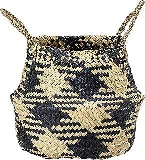 Bloomingville A82042439 Seagrass Basket, Black