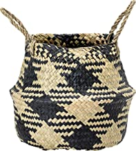 Bloomingville A82042439 Seagrass Basket, Black