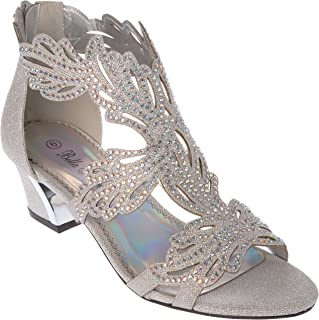 lime03 Women's Evening Sandal Rhinestone Dress-Shoes