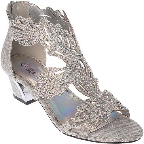 9f9984144 lime03 Women's Evening Sandal Rhinestone Dress-Shoes