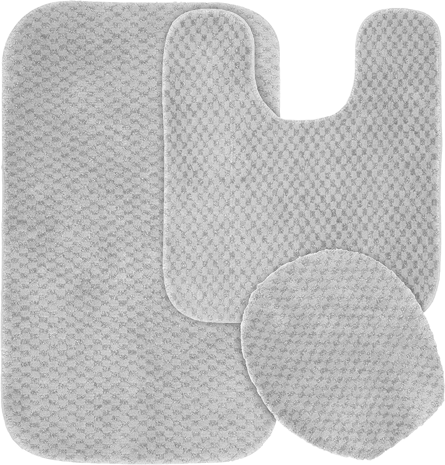 Garland Rug 3-Piece specialty shop Cabernet Nylon Pl Washable Bathroom NEW before selling ☆ Set