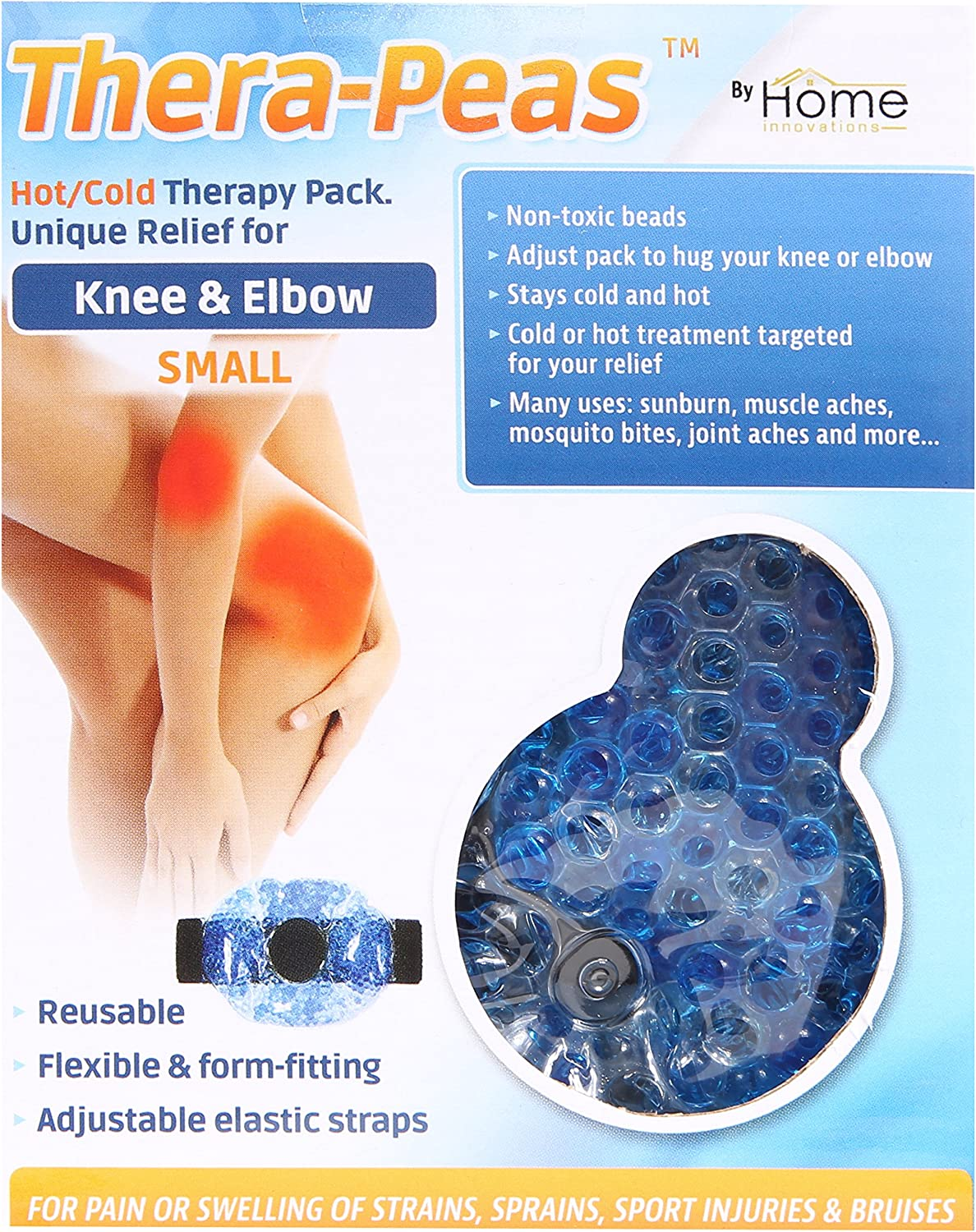 TheraPeas Small Knee & Elbow Hot Cold Therapy Pack
