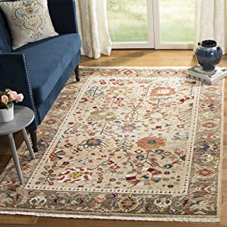 Safavieh Kashan Collection KSN303K Traditional Beige and Taupe Area Rug (9' x 12')