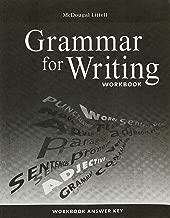 McDougal Littell Literature: Grammar for Writing Workbook Answer Key Grade 7