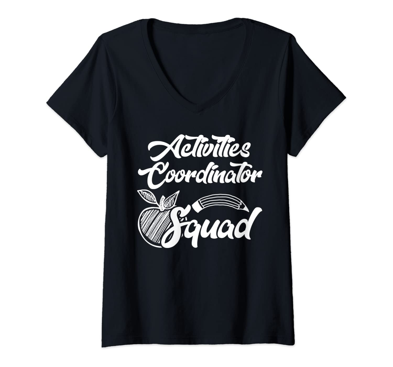 Womens Activities Coordinator Squad Office Team Gifts V-Neck T-Shirt