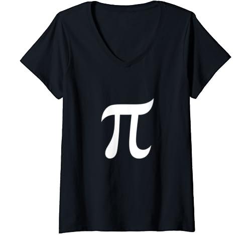 Womens Pi Symbol Funny Pi Day Shirt For Men Women V Neck T Shirt