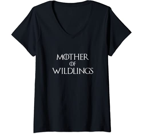 Womens Mother's Day Gift For Mother Of Wildlings V Neck T Shirt