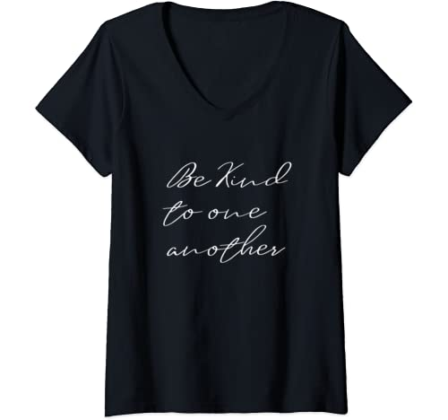 Womens Kindness   Be Kind To One Another   Social Justice V Neck T Shirt