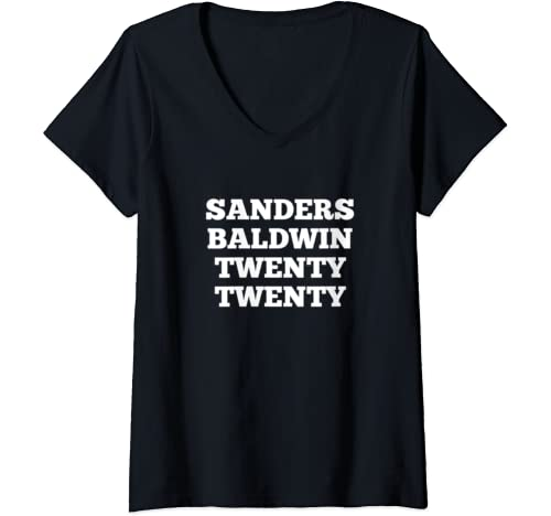 Womens Sanders Baldwin 2020 Bernie Sanders Vp Tammy Baldwin V Neck T Shirt