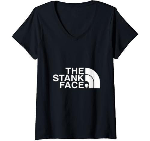 Womens The Stank Face Mountain Bike V Neck T Shirt