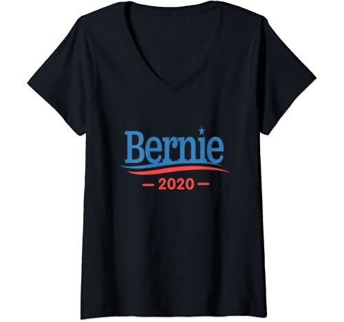 Womens Vote Bernie Sanders For President 2020 V Neck T Shirt