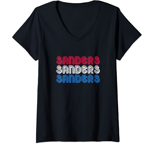 Womens Bernie Sanders For President 2020 Election Democrat Gift V Neck T Shirt