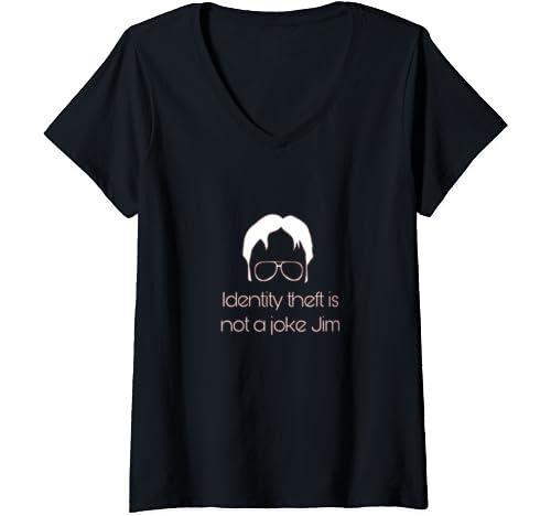 Womens The Office Dwight Identity V Neck T Shirt