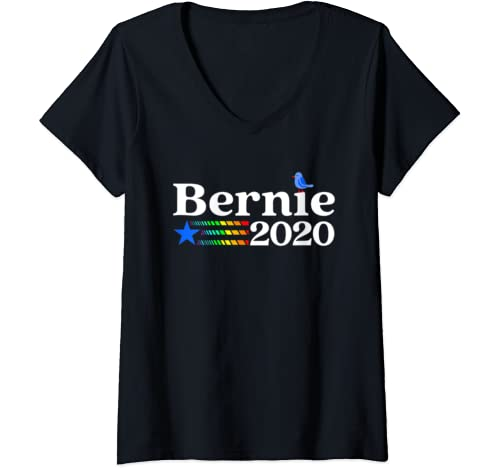 Womens Bernie 2020 Lbgtq Gift   Men Women  Bernie Sanders V Neck T Shirt