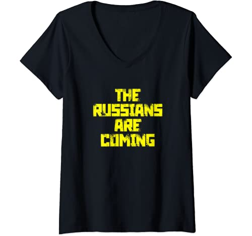 Womens The Russians Are Coming Anti Trump Protest V Neck T Shirt