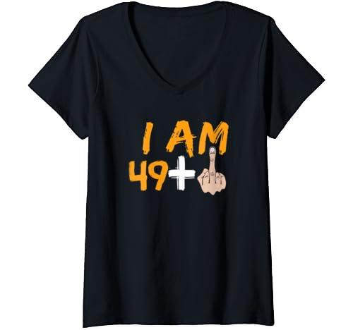 Womens 50th Birthday Gift Ideas Funny T Shirt For Men And Women V Neck T Shirt