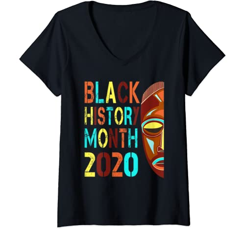 Womens Black History Month 2020 Gift / Tee/ Tshirt V Neck T Shirt