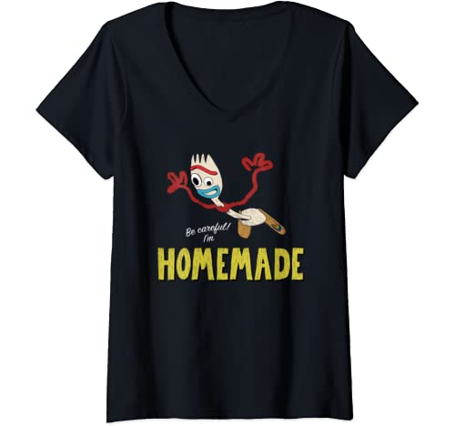 Womens Disney Pixar Toy Story Forky Homemade Dive V Neck T Shirt