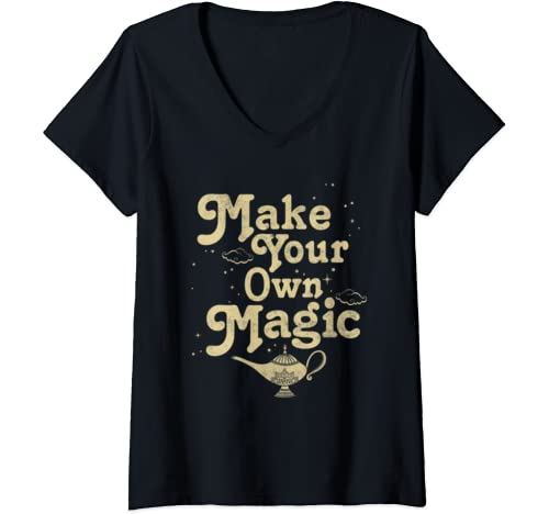 Womens Disney Aladdin Make Your Own Magic V Neck T Shirt