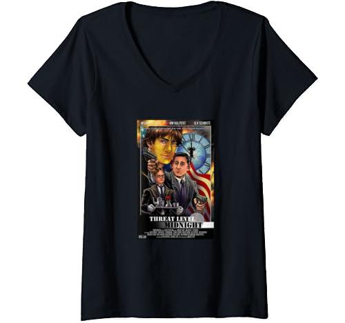 Womens The Office   Threat Level Midnight V Neck T Shirt