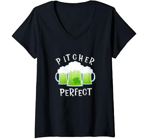 Womens Funny Drinking T Shirt St Patricks Pattys Paddys Day Pun Top V Neck T Shirt