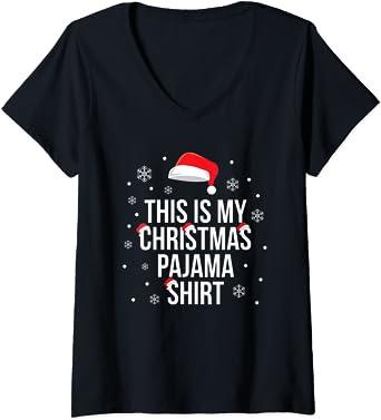 Mujer Esta es mi camisa de pijama de Navidad. Camiseta Cuello ...