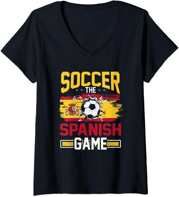 Damen Fußball Tee für Männer The Spanish Game Spain T