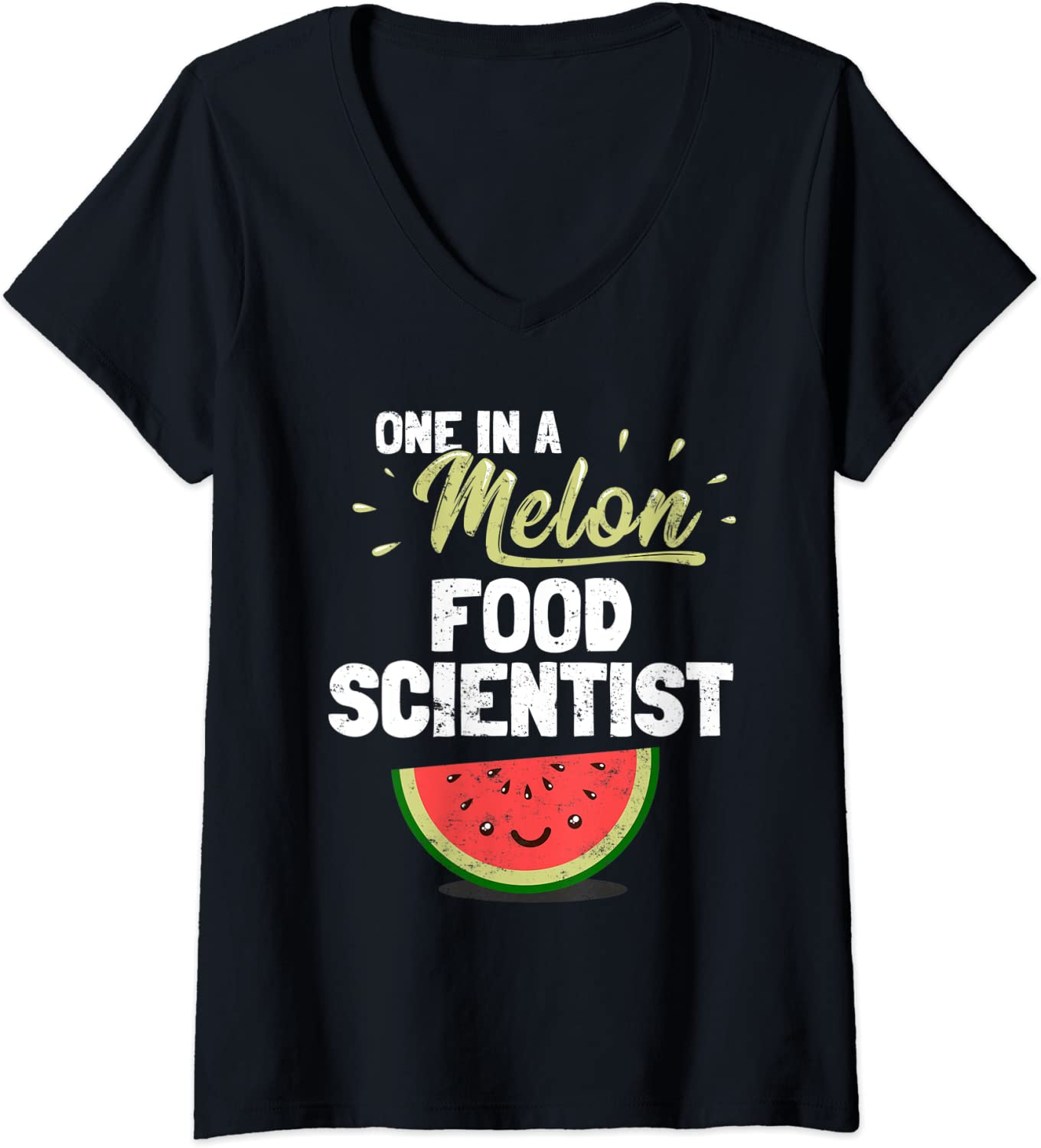 Womens Funny Food Scientist V-Neck T-Shirt