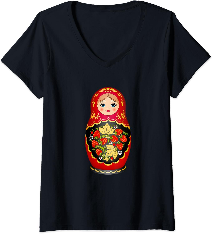Womens Beautiful price discount Matryoshka Russian Doll V-Ne Strawberry Nesting