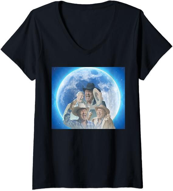 Amazon.com: Womens Screaming Cowboy Meme V-Neck T-Shirt ...