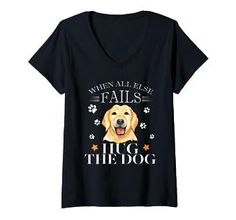 875cdfa831fe Amazon.com: Womens Yellow Labrador Retriever Dog Gift Love Dogs Labs V-Neck  T-Shirt: Clothing