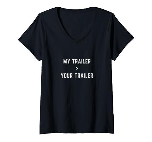 Womens Pipeliner Great Travel Trailer Welder Road Pipeline Gag Gift V Neck T Shirt