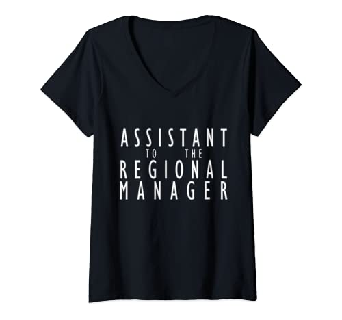 Womens Assistant To The Regional Manager Office Appreciation Gift V Neck T Shirt