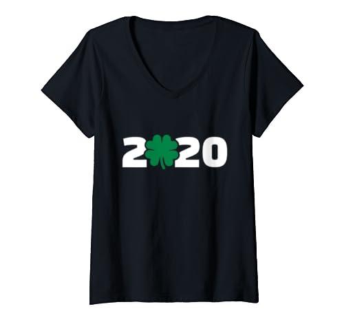 Womens St. Patrick's Day 2020 V Neck T Shirt
