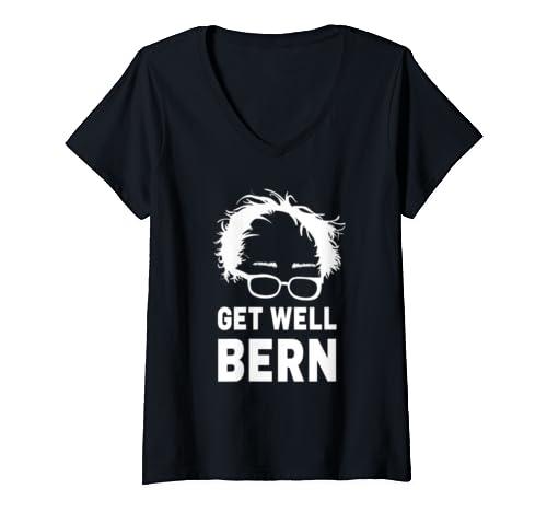 Womens Get Well Bernie For Sickness Of Bernie Sanders 2020  V Neck T Shirt