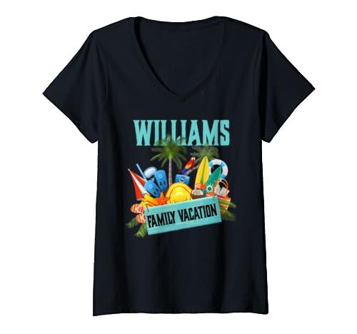Womens Williams Family Vacation Product V Neck T Shirt