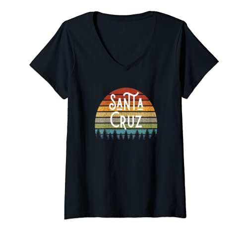 Womens Santa Cruz California Surf Gear And Santa Cruz Gift V Neck T Shirt