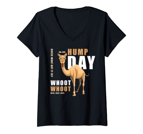 Womens Hump Day Shirt Guess What Day It Is   Camel! V Neck T Shirt