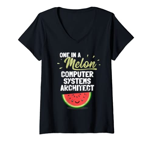 Womens Funny Computer Systems Architect  V Neck T Shirt