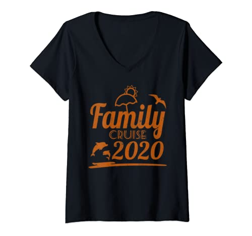 Womens Family Cruise 2020 Matching Vacation V Neck T Shirt