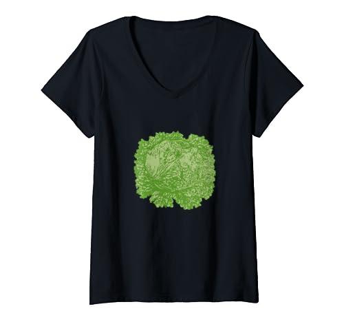 Womens Blt Lettuce Halloween Matching Group Costume  V Neck T Shirt