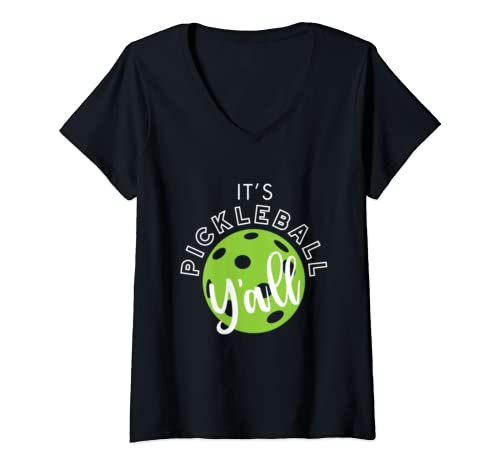 Womens Funny Pickleball Quote, Pickleball Y'all, Pickleball Gifts V Neck T Shirt