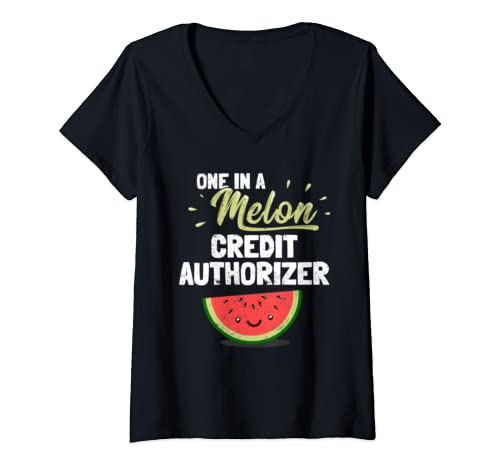 Womens Funny Credit Authorizer  V Neck T Shirt