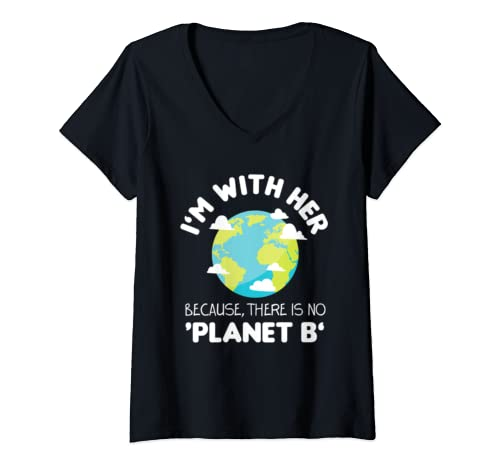 Womens Climate Change Save The Environment Planet Earth Day Gifts V Neck T Shirt