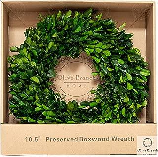 small faux boxwood wreath